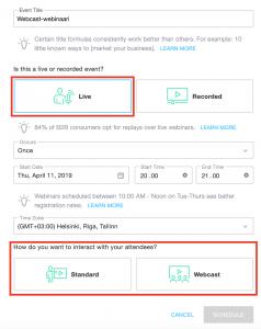 GoToWebinar Standard vai Webcast