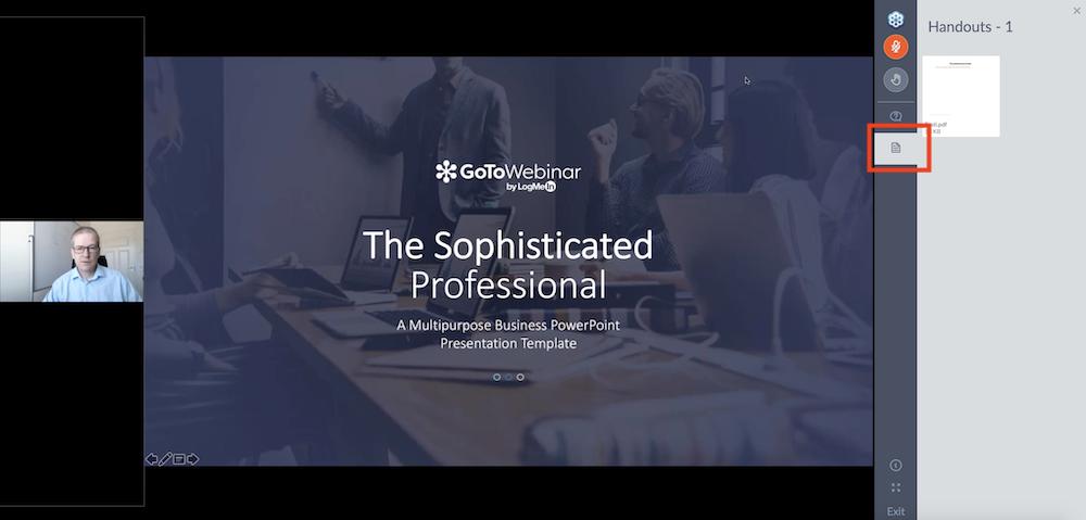 GoToWebinar-webcast ladattavat aineistot handouts
